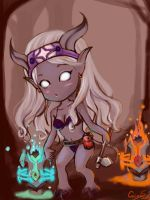 my cute draenei shaman by cocoasweety