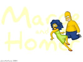 Marge and Homer revisited by abovetheflames