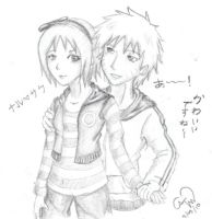 ART TRADE: NaruSaku by Insert-Food