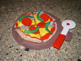 Felt Pizza Party Play Set by kiddomerriweather