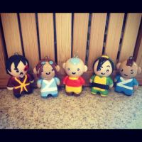 Aang and the Gang by Marielishere