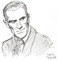 Boris Karloff Sketch by GarrettByers