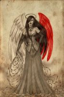Aisza The One Winged Angel by ArunaWolf