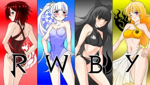 RWBY swimsuit LOGO(?!) by WonEnter
