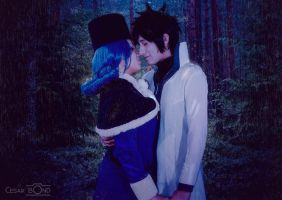 Gray x Juvia Cosplay: In the rain by ivachuk