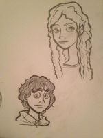 Frodo and Galadriel Cartoons by themollyb