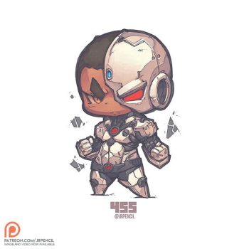 455 - Cyborg by Jrpencil