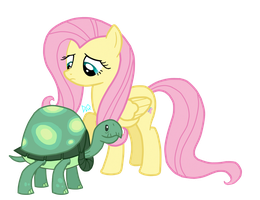 Fluttershy and Tank by DrumblastingQuilava
