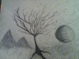 Sketch of a tree by Dies-Suddenly