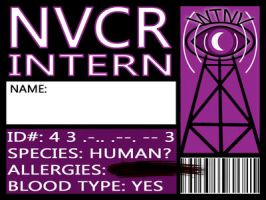 Night Vale Community Radio Intern Badge by Nashoba-Hostina
