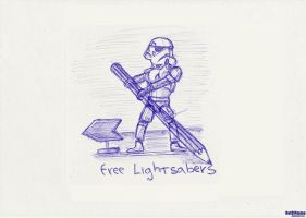 Free Lightsabers by 0ut0f4mmo
