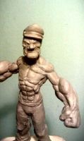Popeye face by Claysculpture