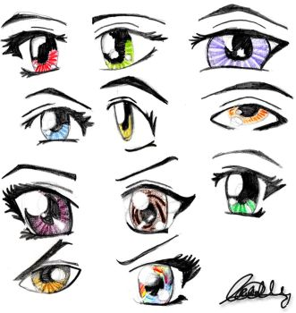 Anime eyes by Cattyonines