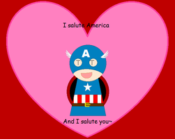Captain America Valentine's by ThunderWolfang