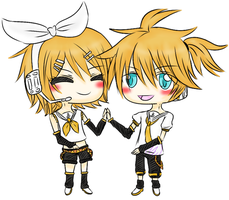 Commission: Rin and Len by Loveless-Zemmy