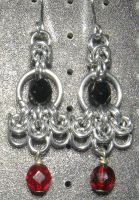 Chainmaille Earring 55 by Des804