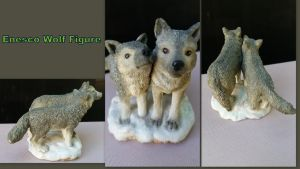 Enesco Wolf Figure by Vesperwolfy87