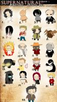 Supernatural Monsters Season 1 by rachitick