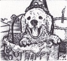 Dog Birthday Card 2013 by StickstoMagnet
