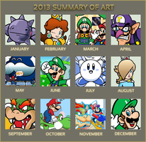 2013 Summary of Art by Blistinaorgin