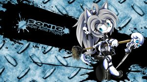 SonicSuperArmsProject Natalie The Cat by skyshek