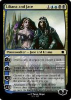 Liliana and Jace Planeswalker by vinio2323