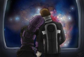 WC3 - Tali and Shepard by Hazeloop