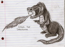Alfons the DRALLIGATOR by darkmold