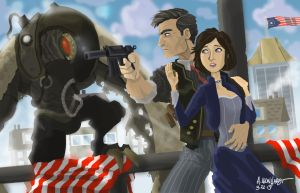 Bioshock Infinite by Adam-Leonhardt