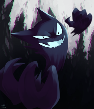 Day31 [ALL-TIME FAVORITE] Haunter by Rock-Bomber