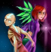 Aang and Will - Four Combined by Berende