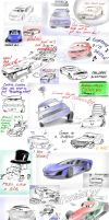 Pixarized cars - sketch dump 2 by camaro1