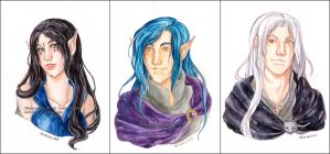 Watercolor busts 1 by Luciana-Lu