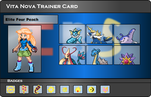 I.B.S Trainer Card - Peach by JonicOokami7