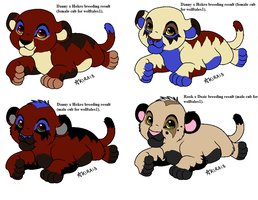 More Breeding Results For Wolftales1 part 2 by Natalia-Clark