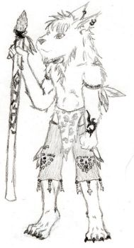 Tribal Wolf by d4rk-wolf