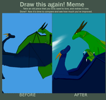 Draw This Again Meme - Blue and Star by Drakmanka