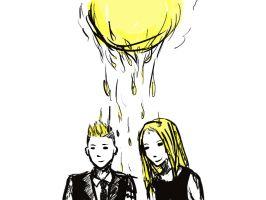 GD and Eli's sunshine yellow hair by Prancingoctopus