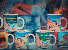 vintage mugs by Blurry-Photography