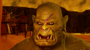 Warcraft orc (a still from animation) by siksix