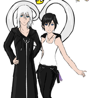 Riku and Xion by Himeka-wolfie