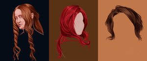 Hair Studies by TheElvishDevil