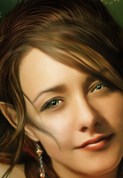 Elven Forest Closeup by PaperDreamerArt