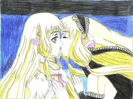 Chii and Dark Chii-Chobits by QueenLeaShanneen