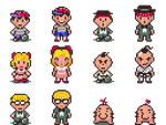 EarthBoundCommissions - Main Cast Mother 4 Style by JustinGameDesign