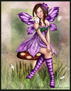 Fairy commission for Madettica by ladylionink