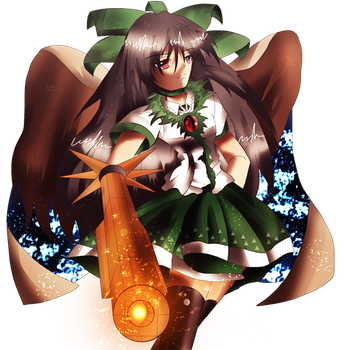 Nuclear Utsuho! by SuperBeo