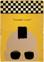 Taxi Driver Minimalist Poster by jackdaw78