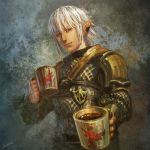 Share a cup of hot cocoa with Haurchefant by Athena-Erocith