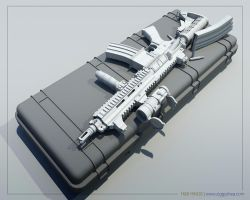 Heckler and Koch HK416 by 3DFunkee